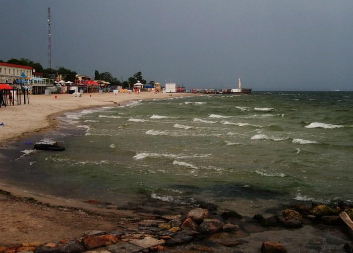 море волны небо пляж