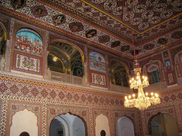 Тадж-Махал в миниатюре - Samode Palace 61978