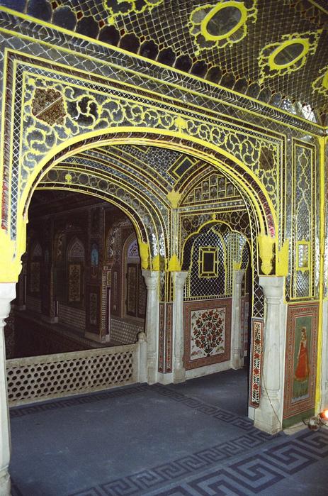 Тадж-Махал в миниатюре - Samode Palace 91575