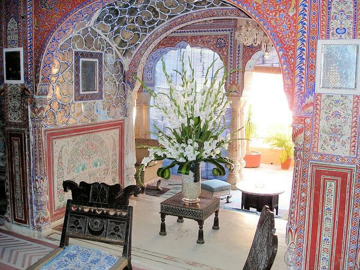Тадж-Махал в миниатюре - Samode Palace 39534