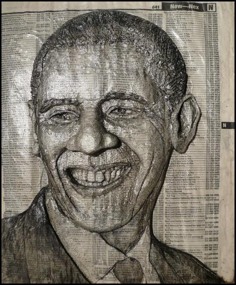 Портреты из телефонных справочников от художника Алекса Кверела (Alex Queral)