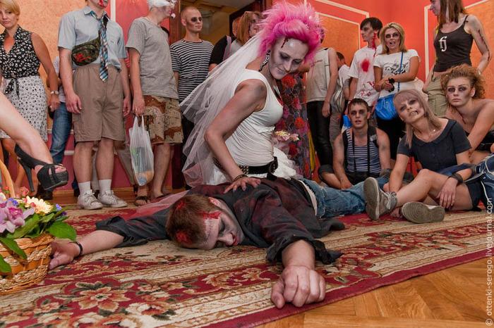 свадьба зомби в петербургском загсе