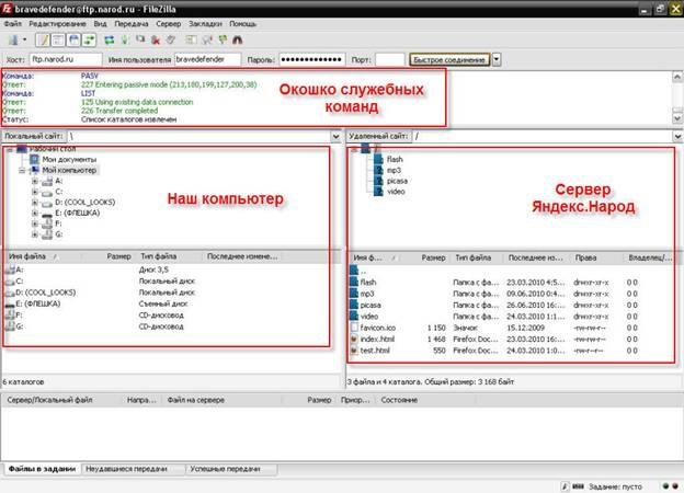 Настройка и использование бесплатного FTP клиента FileZilla