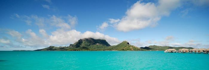 Остров Бора-Бора - жемчужина Тихого океана с перламутровой лагуной 37976