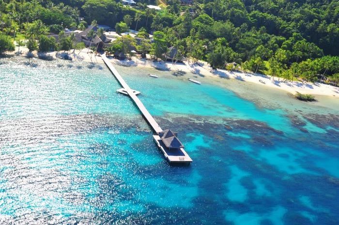 Остров Бора-Бора - жемчужина Тихого океана с перламутровой лагуной 16549