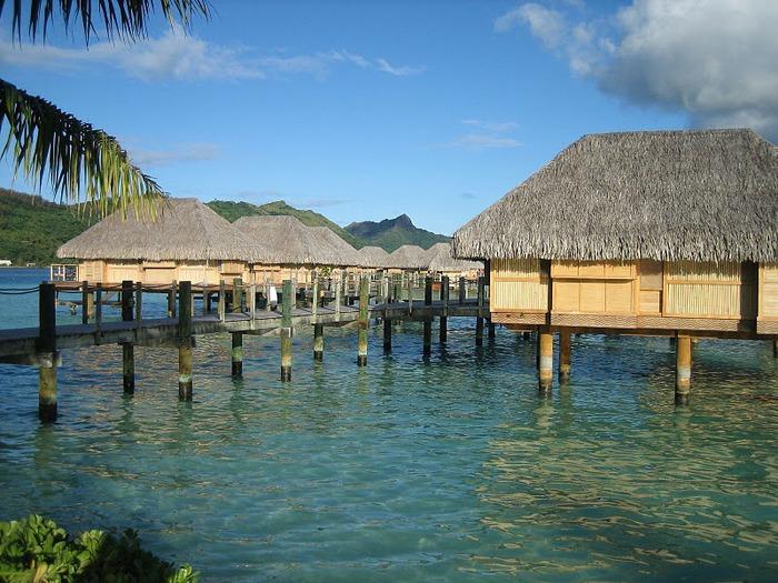 Остров Бора-Бора - жемчужина Тихого океана с перламутровой лагуной 61119