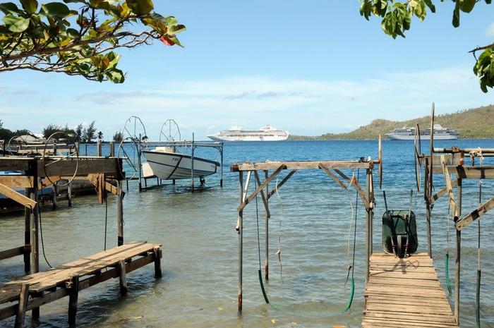 Остров Бора-Бора - жемчужина Тихого океана с перламутровой лагуной 97380