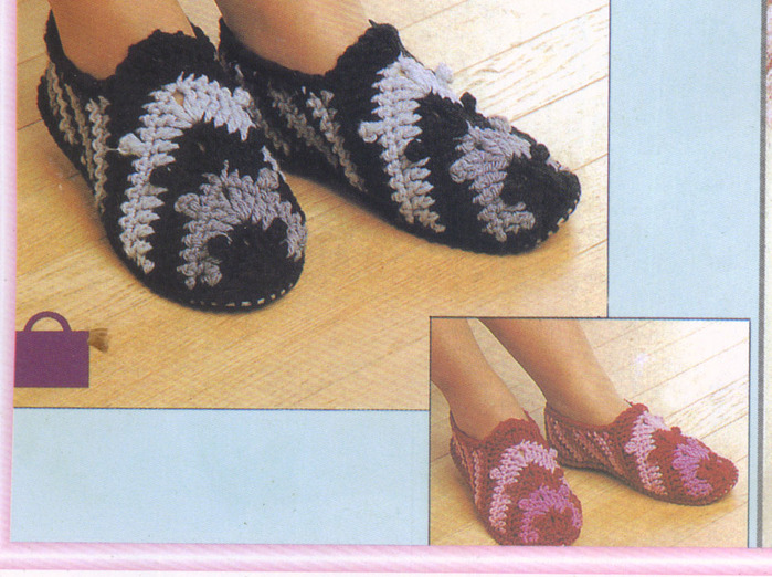 winter slippers, free crochet pattern