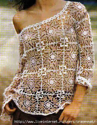 61170696 blusa branca marrom motiflerden oluşan bluz ve şeması