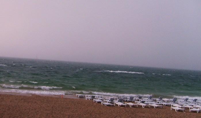 море, плохая погода