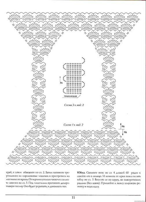 菠萝花钩针连衣裙(222) - 柳芯飘雪 - 柳芯飘雪的博客