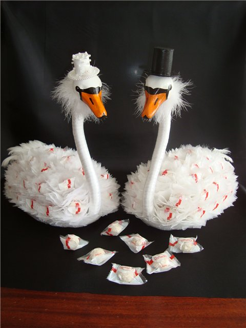 sweet swans tutorial : ideas to make gifts for bridal