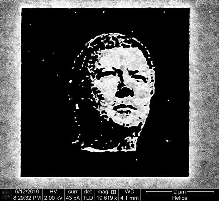 нанотехнологии - портрет анатолия чубайса на золоте