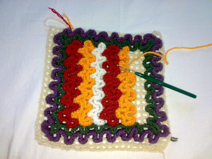 Коврики вязание крючком
