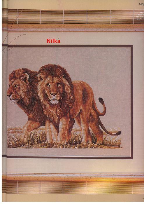 Львы - ВЫШИВКА КРЕСТОМ