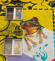 Район граффити на Бабушкинской в Москве