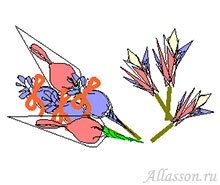 """3. Взять приготовленные """"цветы"""" и вспомогательный материал"""