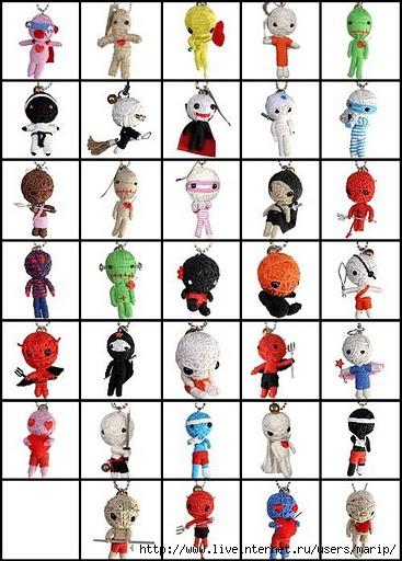 Куклы вуду - милые и зловещие.