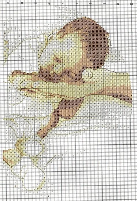 вышивка схемы дети метрика