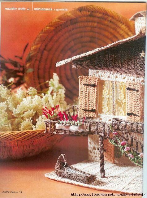 схема вязания домика