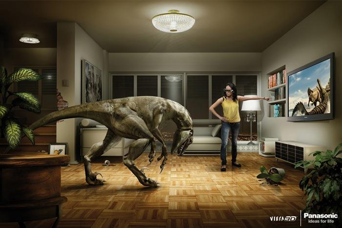 Классная реклама 3D телевизоров (2 принта)
