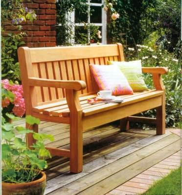 Деревянная скамейка своими