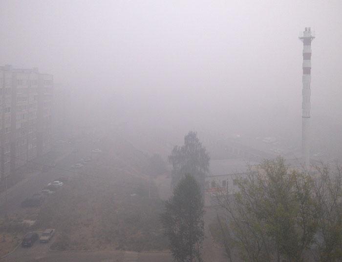 все в дыму на северо-востоке московской области