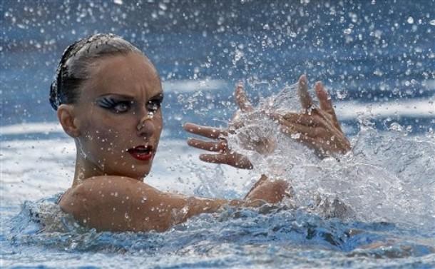 Индивидуальное синхронное плавание на чемпионате Европы по плаванию в Будапеште, 4 августа 2010 года.