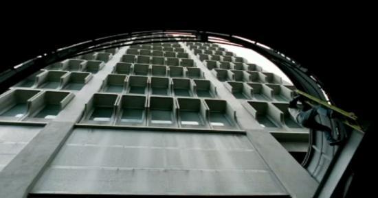 Паркур с лестницей (видео)
