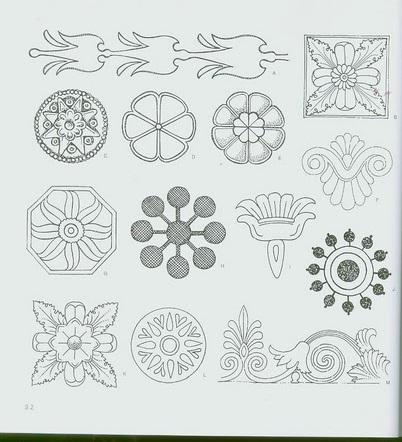 шаблоны узоров, стилизованные узоры, черно-белые узоры, Узоры Египта, узоры Греции, узоры Рима , узоры Месопотамии