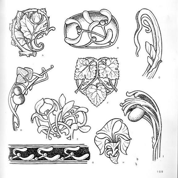 шаблоны рисунков в стиле Арт-нуво