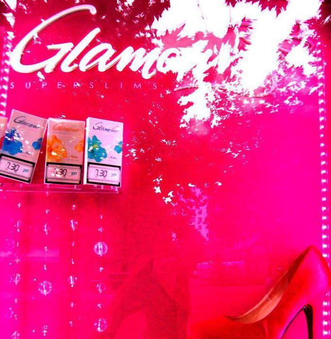 "Реклама сигарет ""Гламур"""