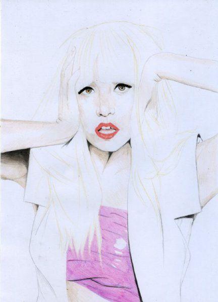 Портреты Lady Gaga, написанные поклонниками