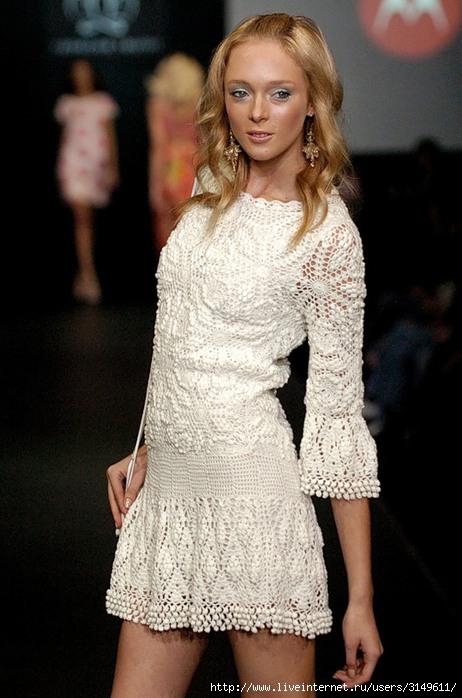 Платье крючком от ребекки тейлор