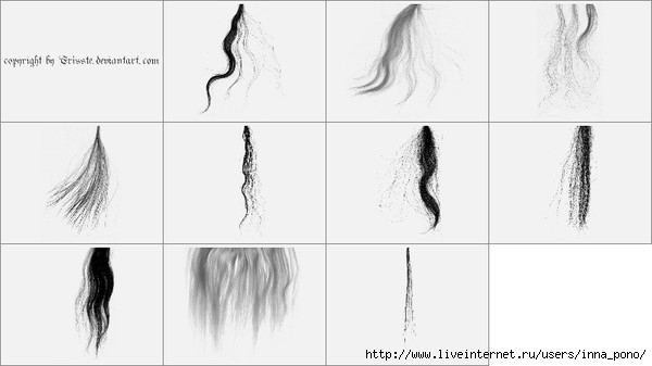 32. Кисти - волосы.