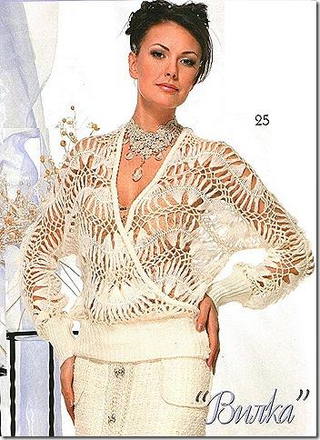 Блузка на вилке