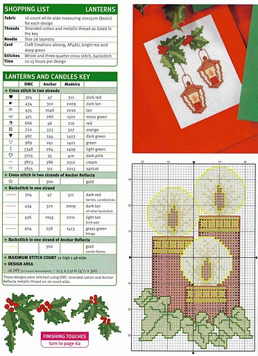 Embroidery Christmas scheme