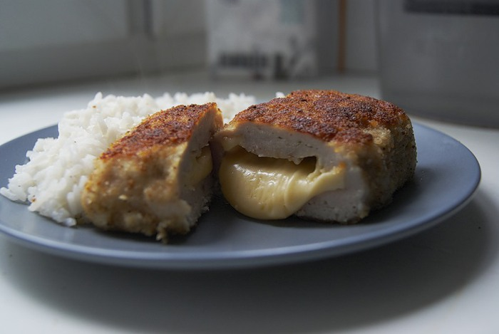 Бифштекс рубленый с сыром (для микроволновой печи)