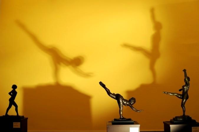 Скульптура французского художника Эдгара Дега в Национальной художественной галерее в Софии, 2 сентября 2010 года.