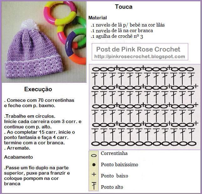Простые схемки и описания шапочек крючком 63693561_TOUCA_LIL_193S_RECEITA