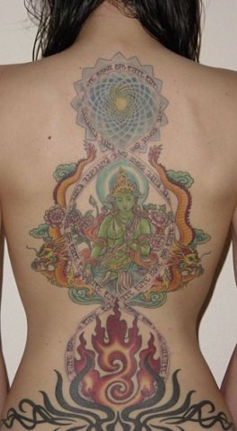 Татуировки на индийскую тематику 5