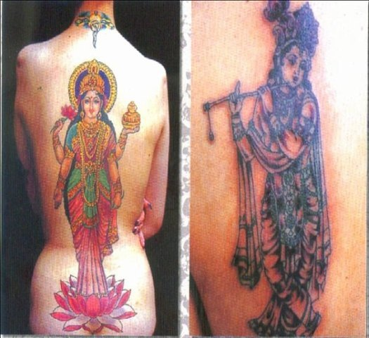 Татуировки на индийскую тематику 33
