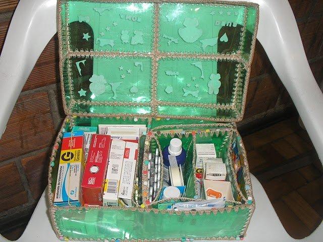 Сумка и корзинка из пластиковых бутылок