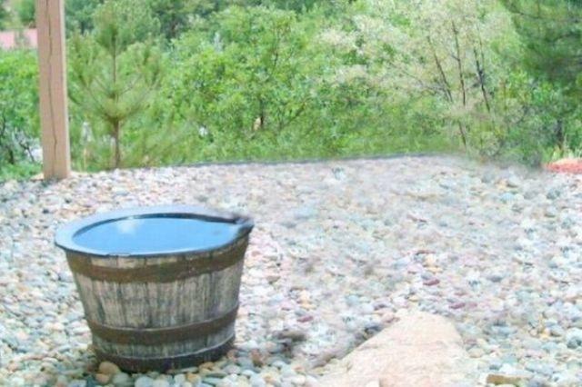 Почему в бочке пропадала вода (7 фото)