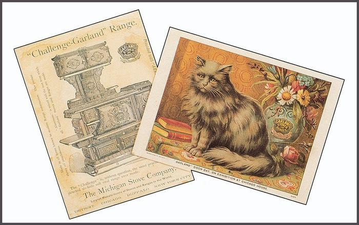 Винтажные открытки с котами 7