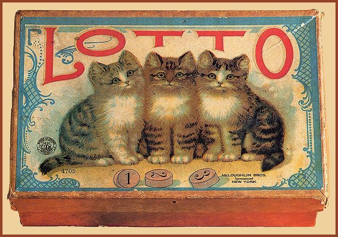 Винтажные открытки с котами 13