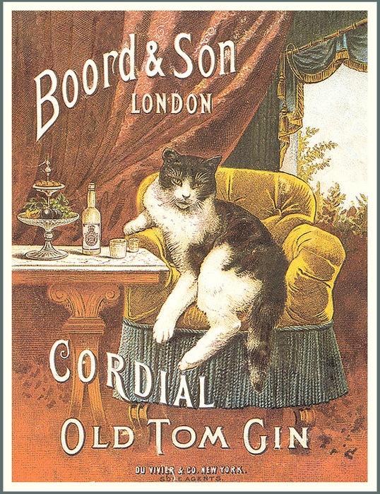 Винтажные открытки с котами 15