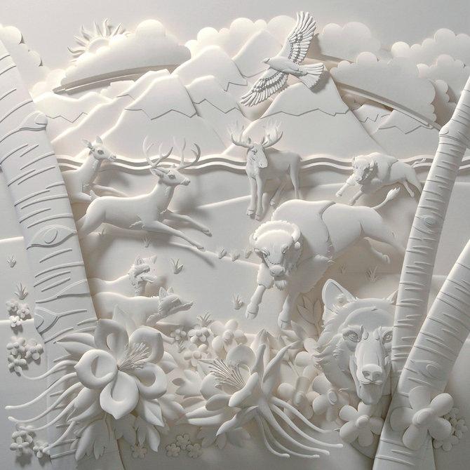 Скульптуры из бумаги от Джефа Нишинаки (JEFF NISHINAKA) 9