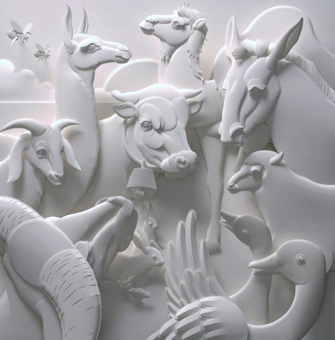 Скульптуры из бумаги от Джефа Нишинаки (JEFF NISHINAKA) 13