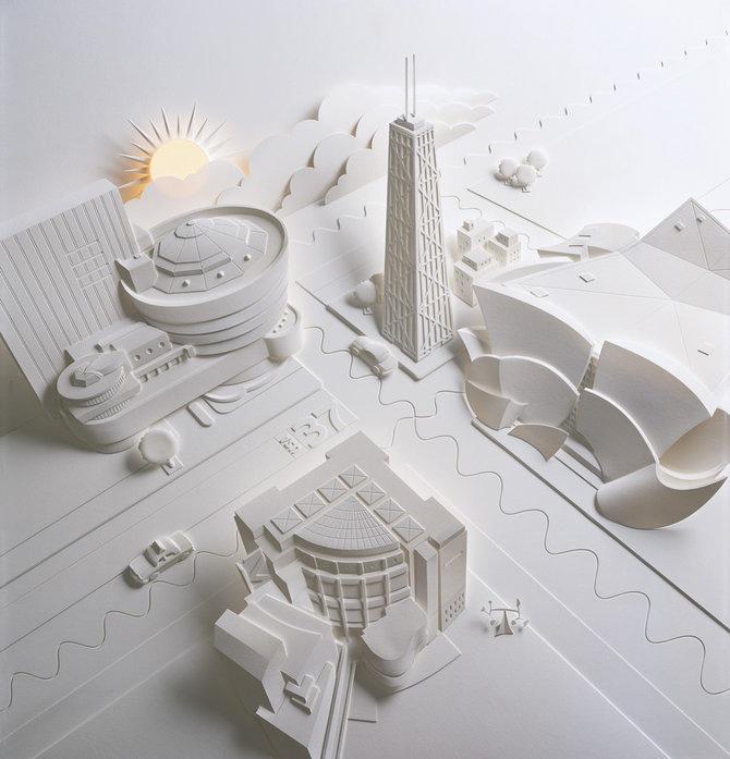 Скульптуры из бумаги от Джефа Нишинаки (JEFF NISHINAKA) 15